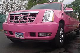 Pink Escalade Limousine