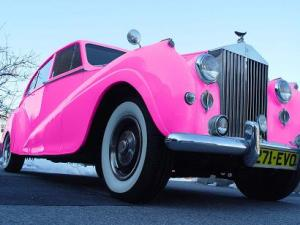 Pink Rolls Royse Limousine